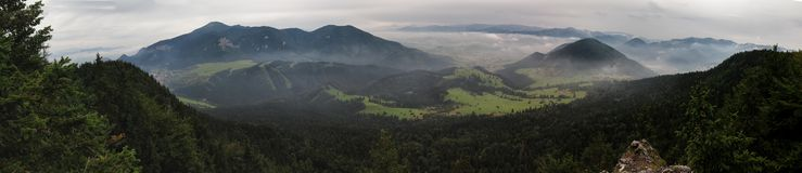 View from Tlsta hora above Komjatna in Slovakia Stock Image