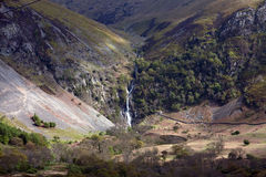View To Aber falls Royalty Free Stock Images
