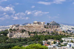 View to the Acropolis and the city, Athens Royalty Free Stock Images