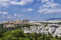 View to the Acropolis and the city, Athens Stock Photo