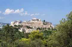 View to the Acropolis and the city, Athens Royalty Free Stock Photo