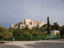 View To Acropolis  And Parthenon In Athens Royalty Free Stock Images