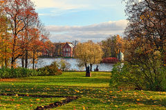 View to the Admiralty pavilion in Catherine garden, Stock Photos