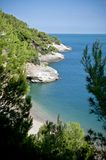 View to the Adriatic sea Stock Photography