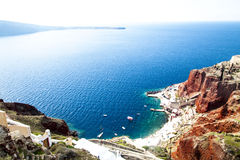 View to Aegean Sea from Santorini, Greece Royalty Free Stock Photos