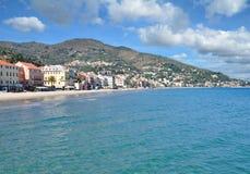 Alassio,italian Riviera,Liguria,Italy. View to Alassio at italian Riviera,Liguria,mediterranean Sea,Italy Stock Photos