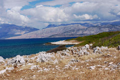 View to Albania from Corfu Island Stock Photography