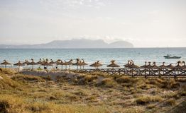 A view to Alcudia Bay from Can Picafort. Early in the morning, Mallorca Stock Photography