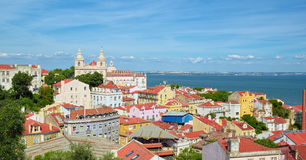 View to Alfama district of Lisbon, Portugal Royalty Free Stock Photography