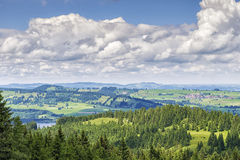 View to Allgaeu Royalty Free Stock Photo
