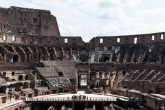 View to the amphitheater inside of Colosseum in Rome, Italy Royalty Free Stock Photography