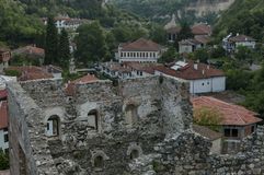 View to ancient Melnik town Royalty Free Stock Photos