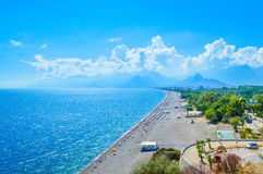 View to Antalya and Konakli beach Stock Photo