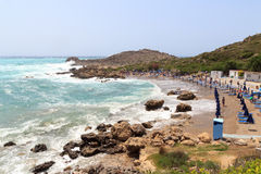 View to the Anthony Quinn Bay in Rhodes Stock Photos