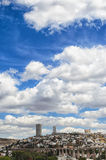 View to aqueduct and cityline of Queretaro city Stock Photo