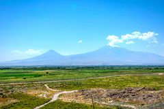 Ararat mountain. View to Ararat mountain from Armenian side Royalty Free Stock Photos