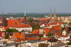 View to the architecture of Wroclaw, Poland. Royalty Free Stock Photography