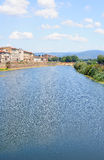 View to the Arno river in Florence Stock Photo