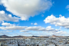 View to Arrecife and the volcanos Royalty Free Stock Photo