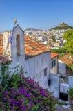 View to Athens city from Plaka neighborhood, Greece. View to Athens city from Plaka neighborhood Stock Photo