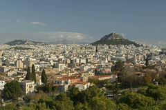 View To Athens Stock Photos
