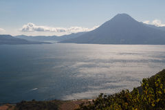 A view to Atitlan lake. Guatemala Royalty Free Stock Photography