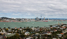 View to Auckland city center from mt.Victoria, North Island, New Royalty Free Stock Images