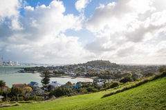 View to Auckland city and Devonport, New Zealand Stock Photo