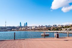 View to Baku bay Royalty Free Stock Photo