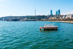 View to Baku bay Stock Images