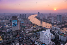 View to Bangkok skyline from 59 floor of the Lebua At State Tower Royalty Free Stock Images