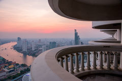 View to Bangkok skyline from 59 floor of the Lebua At State Tower Royalty Free Stock Photos
