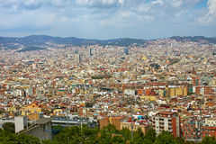 View to Barcelona. Stock Images