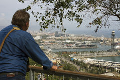View to the Barcelona. Royalty Free Stock Photography