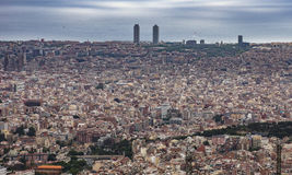 View to Barcelona from Tibidabo Royalty Free Stock Photography