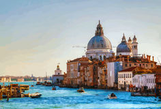 View to Basilica Di Santa Maria della Salute Royalty Free Stock Photography