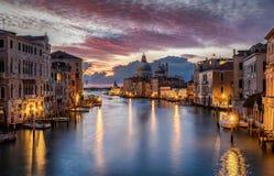 View to the Basilica di Santa Maria della Salute and the Canale Grande in Venice stock images