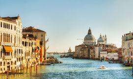 View to Basilica Di Santa Maria della Salute in Venice Stock Photo