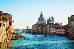 View to Basilica Di Santa Maria della Salute in Venice Royalty Free Stock Photos