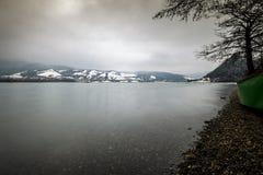 View to Batca Doamne lake from Romania Stock Image