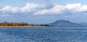 View to Bay of Szigliget at Lake Balaton Royalty Free Stock Photos