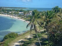 view to the beach in miami stock image
