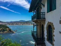 View to the beach of San Sebastian royalty free stock photography