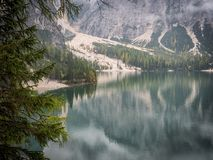 View to lake in mountains Royalty Free Stock Images