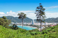 View to beauty beach Royalty Free Stock Images