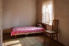 View to bedroom in abandoned building Royalty Free Stock Photography