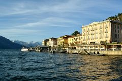 View to Bellagio lakefront in winter. Stock Photography