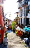 View to Bellagio street at lake Como. Stock Image