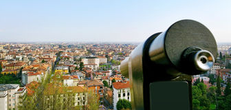View to the Bergamo. Royalty Free Stock Images