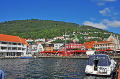 View to bergen harbor, norway Royalty Free Stock Image
